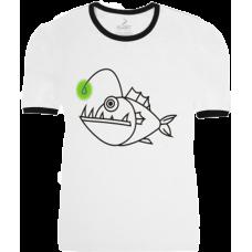 """ФУТБОЛКА KLOST """" ANGLER FISH (ГЛИБОКОВОДНИЙ РИБАЛКА) """" WHITE"""
