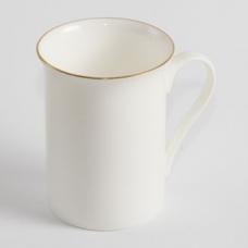 """Чашка біла """"Тюльпан із золотою каймою"""""""